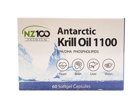 NZ100 Premium Antarctic Krill Oil 1100